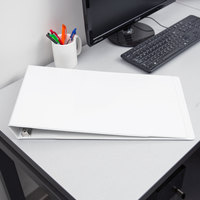 Cardinal CRD 22122 ClearVue 11 inch x 17 inch White Tabloid Size Binder with 1 1/2 inch Slant D Rings