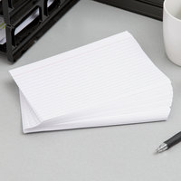Oxford OXF 51EE 5 inch x 8 inch White Ruled Index Card - 100/Pack