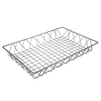 GET WB-953-SV POP Silver Wire Pastry Basket - 18 inch x 12 inch x 2 inch