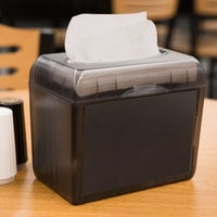 Just1 5100-12 Black Pearl Mini Interfold Tabletop Napkin Dispenser