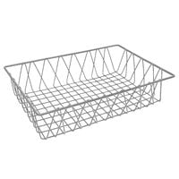 GET WB-954-SV POP Silver Wire Pastry Basket - 18 inch x 12 inch x 4 inch