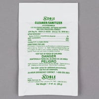 Noble Chemical 1 oz. Soft Serve Ice Cream Machine Powdered Cleaner / Sanitizer Packet - 100/Case