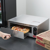 Avantco CPO12TS Stainless Steel Countertop Pizza / Snack Oven with Adjustable Thermostatic Control - 120V, 1450W