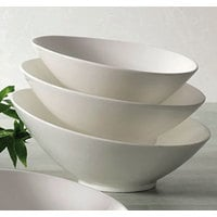 CAC SHER-B10 Sheer 1.125 Qt. Bone White Porcelain Salad Bowl - 12/Case
