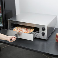 Avantco CPO16TS Stainless Steel Countertop Pizza / Snack Oven with Adjustable Thermostatic Control - 120V, 1700W