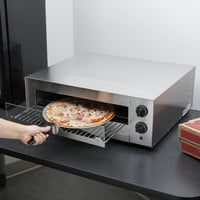 Avantco CPO16TSGL Stainless Steel Countertop Pizza / Snack Oven with Adjustable Thermostatic Control and Glass Door - 120V, 1700W