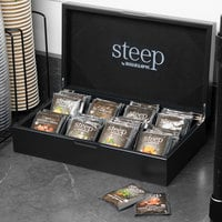 Steep by Bigelow 8 Compartment Black Tea Chest with Assorted Organic Teas