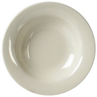 Thunder Group CR5077V 8 oz. Ivory Wide Rim Melamine Salad Bowl - 12/Pack