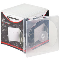 Innovera 81900 Clear Slim CD / DVD Case - 25/Pack