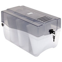 Innovera 39502 150 Disc Clear / Smoke CD / DVD Storage Case - 6 3/8 inch x 11 3/4 inch x 6 5/8 inch