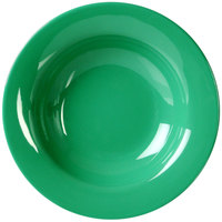 Thunder Group CR5077GR 8 oz. Green Wide Rim Melamine Salad Bowl - 12/Pack