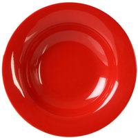 Thunder Group CR5077PR 8 oz. Pure Red Wide Rim Melamine Salad Bowl - 12/Pack
