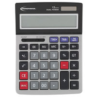 Innovera 15975 6 1/2 inch x 8 3/4 inch 12-Digit LCD Solar / Battery Powered Large Digit Calculator