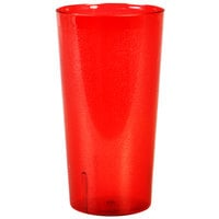 32 oz. Red SAN Plastic Tall Pebbled Tumbler - 12/Pack