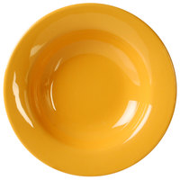 Thunder Group CR5077YW 8 oz. Yellow Wide Rim Melamine Salad Bowl - 12/Pack