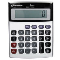 Innovera 15927 4 1/8 inch x 5 5/8 inch 8-Digit LCD Solar / Battery Powered Minidesk Calculator