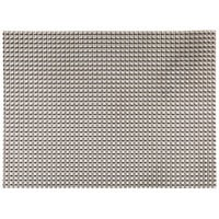 H. Risch, Inc. GA-2003 16 inch x 12 inch Pewter / Copper Woven Vinyl Rectangle Placemat - 12/Pack