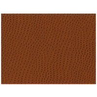 H. Risch Inc. PLACEMATDX-CHBROWN Chesterfield 16 inch x 12 inch Brown Premium Sewn Faux Leather Rectangle Placemat