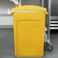 Rubbermaid Slim Jim 23 Gallon Yellow Rectangular Trash Can with 2 Hole Lid