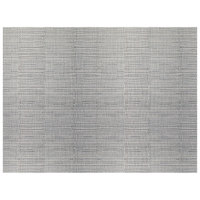 H. Risch, Inc. GA-7001 16 inch x 12 inch Gray Woven Vinyl Rectangle Placemat - 12/Pack