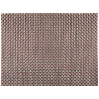 H. Risch, Inc. GA-2002 16 inch x 12 inch Bronze / Brown Woven Vinyl Rectangle Placemat - 12/Pack