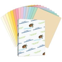 Hammermill 103119 8 1/2 inch x 11 inch Salmon Ream of 20# Recycled Colored Copy Paper - 500 Sheets