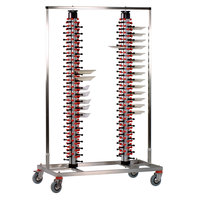 Plate Mate PM168-180 Twin Mobile Plate Rack Holds 168 Plates 73 3/4 inchH