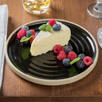 Chef & Sommelier FK844 Geode 8 1/2 inch Black Stackable Salad / Dessert Plate by Arc Cardinal - 12/Case