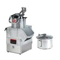 Sammic CK48V 3 hp Combination Food Processor Kit with 8.5 Qt. Bowl, 1/8 inch Slicing, and 1/8 inch Shredding Discs