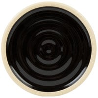 Chef & Sommelier FK888 Geode 4 inch Black Stackable Plate by Arc Cardinal - 24/Case