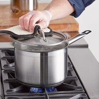 Vigor 4 Qt. Stainless Steel Aluminum-Clad Straight Sided Sauce Pan