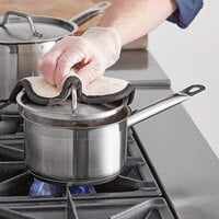 Vigor 2 Qt. Stainless Steel Aluminum-Clad Straight Sided Sauce Pan