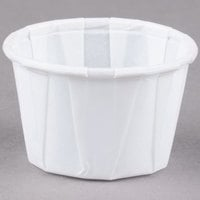 Solo SCC100 1 oz. White Paper Souffle / Portion Cup   - 250/Pack