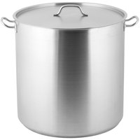 Vigor 100 Qt. Heavy-Duty Stainless Steel Aluminum-Clad Stock Pot with Cover