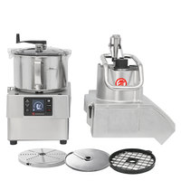 Sammic CK45V 3 hp Combination Food Processor Kit with 5.25 Qt. Bowl, 3/8 inch Slicing, 3/8 inch Dicing, and 1/8 inch Shredding Discs