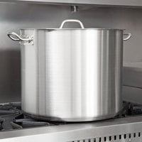 Vigor 60 Qt. Heavy-Duty Stainless Steel Aluminum-Clad Stock Pot with Cover