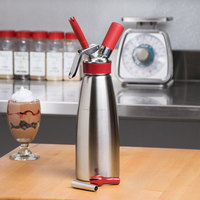 iSi 170301 Gourmet Whip Stainless Steel Whipped Cream Dispenser - 1 Liter