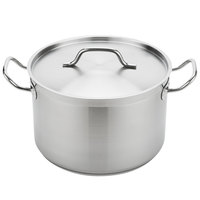 Vigor 12 Qt. Heavy-Duty Stainless Steel Aluminum-Clad Stock Pot with Cover