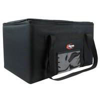 Sterno 70510 Black Medium Catering Insulated Food Carrier, 24 inch x 16 inch x 8 inch - Holds (1) Full Size Food Pan