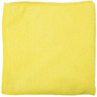 Unger MC40J SmartColor MicroWipe 16 inch x 16 inch Yellow Light-Duty Microfiber Cleaning Cloth   - 10/Pack