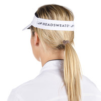 Headsweats White Customizable CoolMax Chef Visor