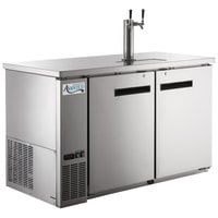 Avantco UDD-2-HC-S Stainless Steel Kegerator / Beer Dispenser with (1) 2 Tap Tower - (2) 1/2 Keg Capacity