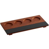Acopa Flight Tray with Chalkboard Surface - 12/Case