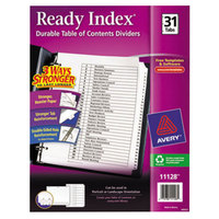 Avery 11128 Ready Index Day-of-the-Month White Table of Contents Dividers