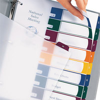 Avery 11817 Ready Index 8-Tab Multi-Color Plastic Table of Contents Dividers