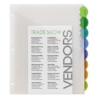 Avery 11293 Style Edge Translucent Plastic 8-Tab Multi-Color Insertable Dividers with Pockets