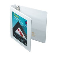 Avery 68060 White Heavy-Duty Framed View Binder with 1 1/2 inch Locking One Touch EZD Rings