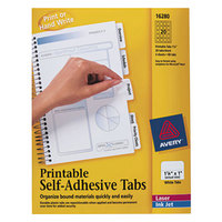 Avery 16280 1 1/4 inch White Printable Tabs with Repositionable Adhesive - 96/Pack