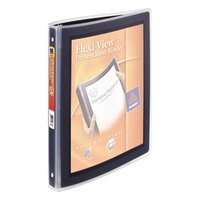 Avery 15767 Black Flexi-View Binder with 1/2 inch Round Rings