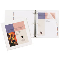 Avery 68056 White Heavy-Duty Framed View Binder with 1 inch Locking One Touch EZD Rings